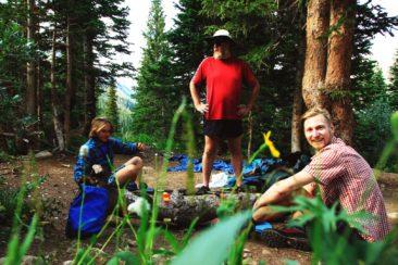 Marc, Anselm und ich bei den Hot Springs