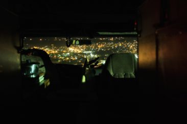 Ausblick auf Mexiko (tecate) von der USA aus