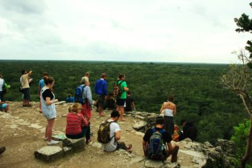 höchste Maya Turm in Mexiko ca. 40m